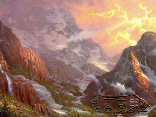 大山风景油画gs005