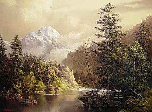 大山风景油画gs019