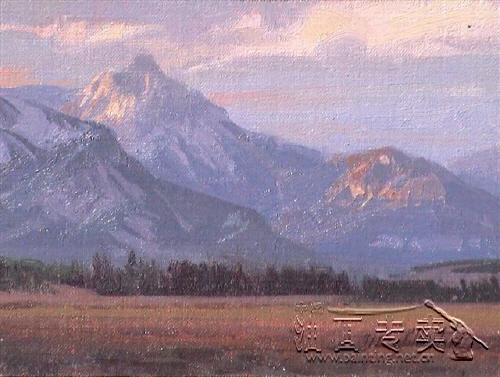 大山风景油画gs093