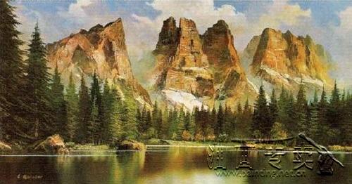 大山风景油画gs097