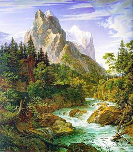 大山风景油画gs105