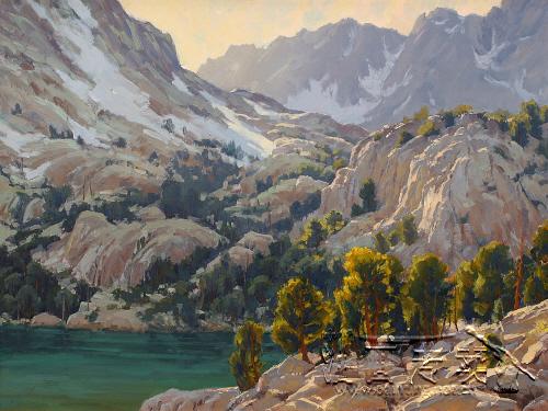 大山风景油画gs307
