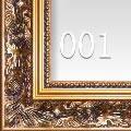 古典金色花纹实木油画框 HK001