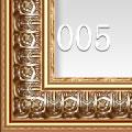 古典金色花纹实木油画框 HK005