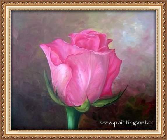 (图片来源:中国大芬油画专卖网)-花卉写实油画 独享油画玫瑰花图片